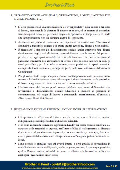 6 Protocollo Ristorazione Covid