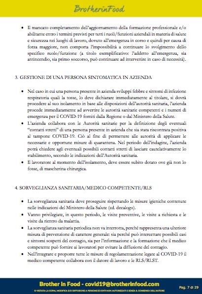 7 Protocollo Ristorazione Covid