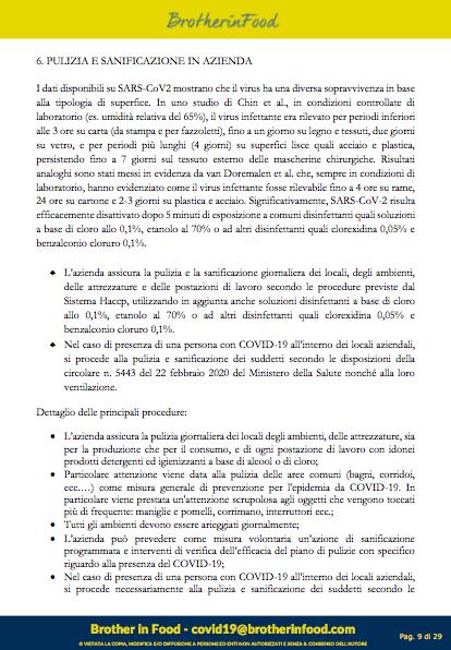 9 Protocollo Ristorazione Covid