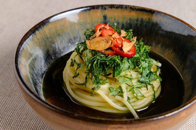 Spaghettini Pastificio dei Campi in Ramen A.O.P. di Marco Acquaroli