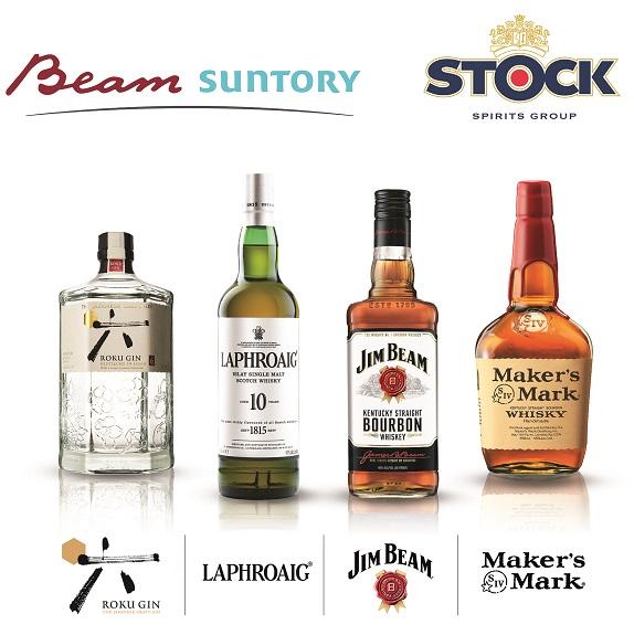 Bottiglie Beam Suntory per Stock