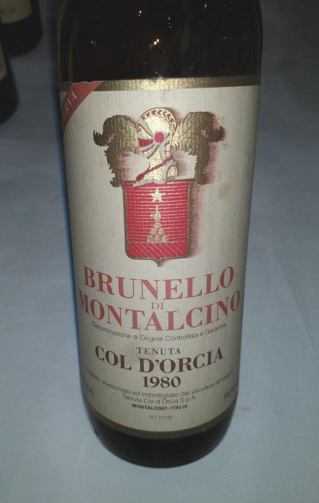 Brunello di Montalcino 1980