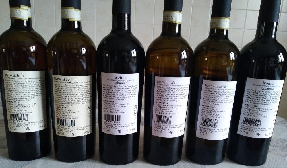 Controetichette vini Cantina Di Marzo 1647