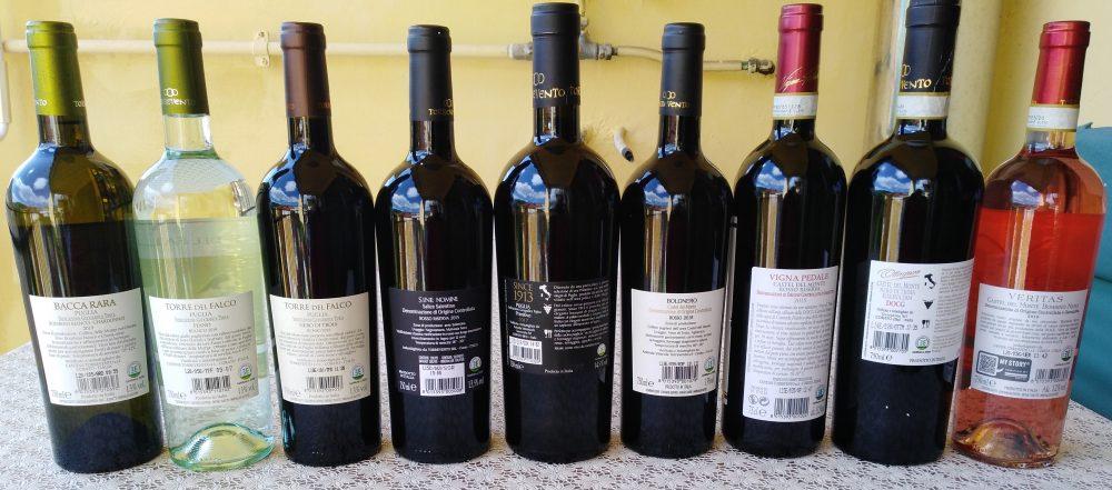 Controetichette vini Torrevento