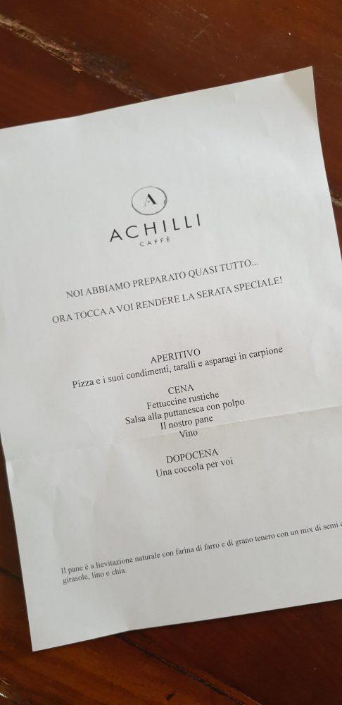 Delivery Achilli Caffe' - menu'