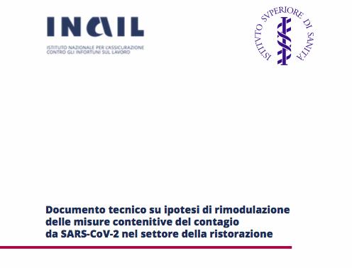 Documento tecnico su ipotesi di rimodulazione delle misure contenitive del contagio - Ristorazione