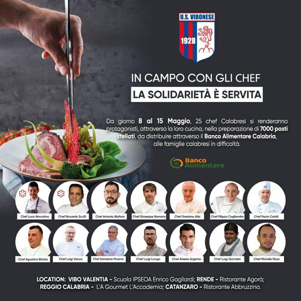 Iniziativa solidale rossoblu insieme agli chef stellati calabresi