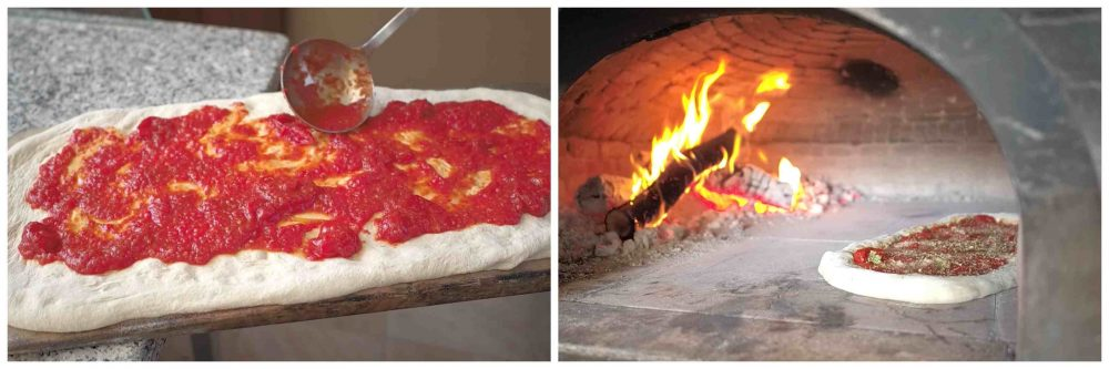 L'Ammaccata o Pizza Cilentana - preparazione