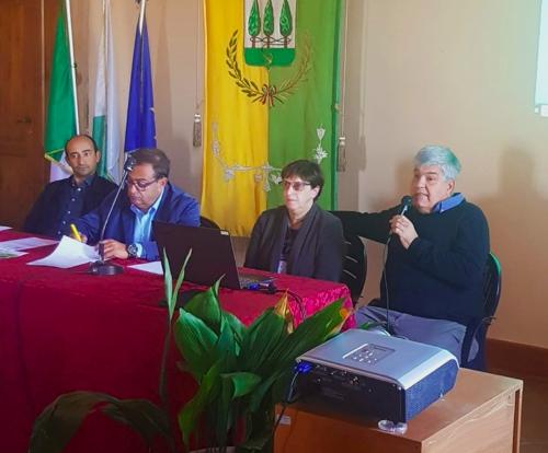 Paolo Mazzola, Francesca Litta del CER Lazio di Slow Food, il sindaco di Capranica Francesco Colagrossi, Tiziano Cinti direttore tecncio
