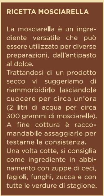 Uso gastronomico della Castagna Mosciarella