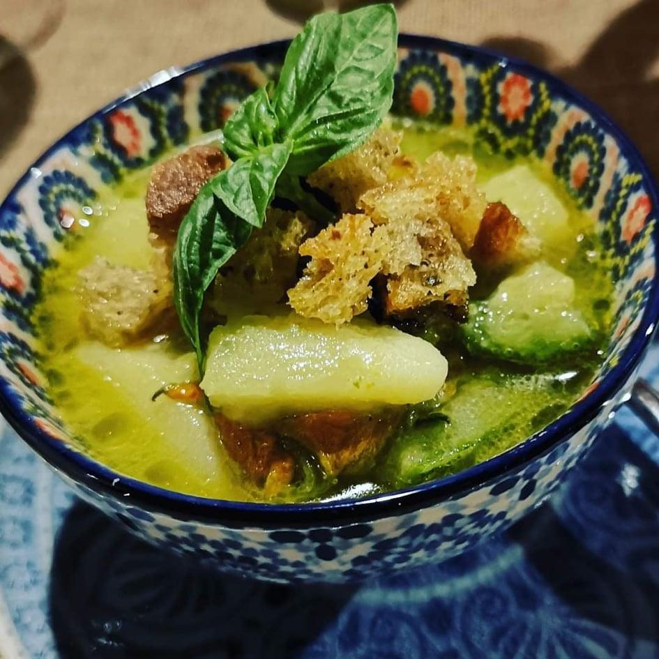 Zuppa di talli, patate e zucchine