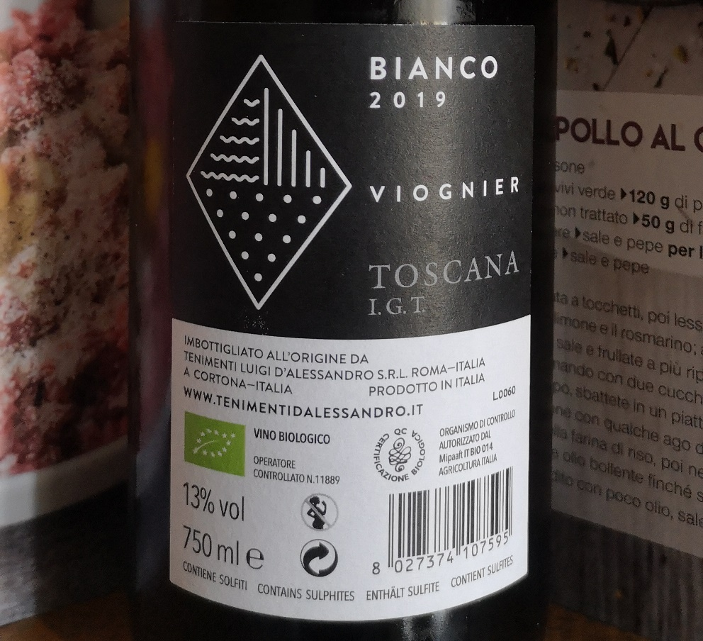 Toscana IGT Viognier 2019, Tenimenti d'Alessandro