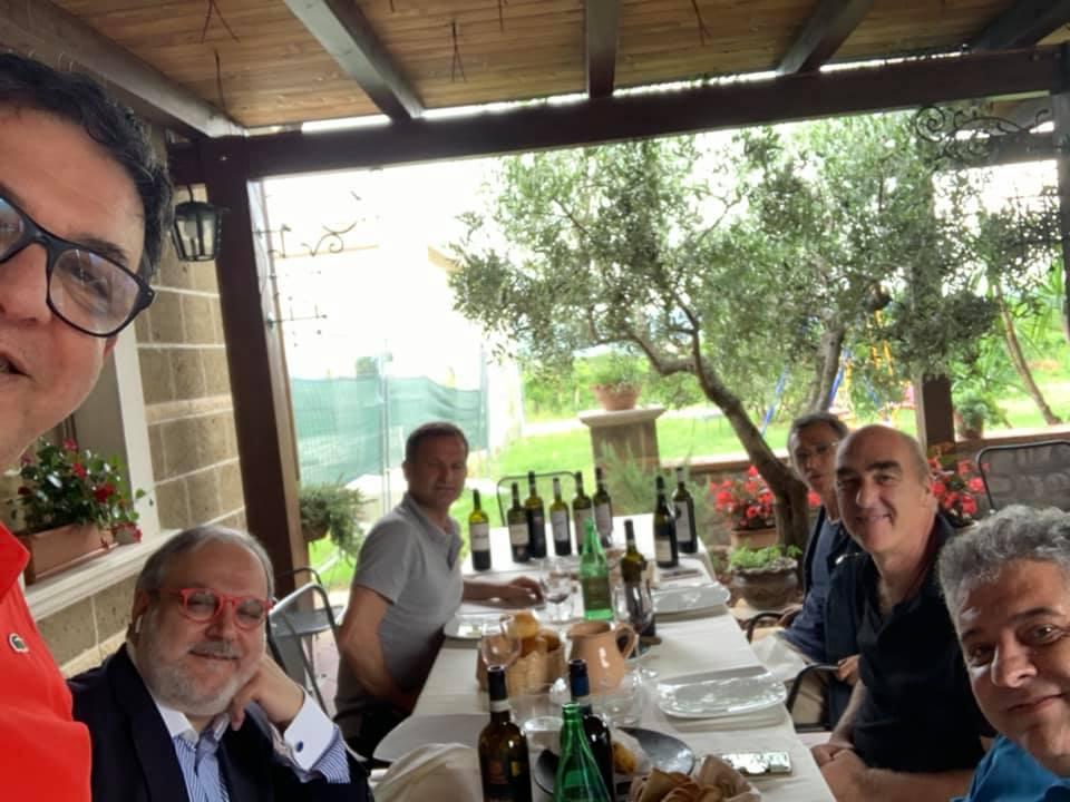 Con Nicola Matarazzo, Libero Rillo, Helmuth Köcher e Pasquale Carlo