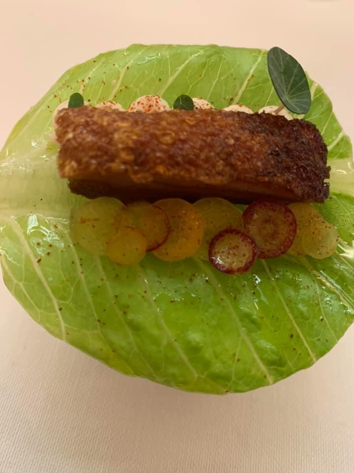 Piazzetta Milu - Taco di pancia di maiale e salsa di ostrica