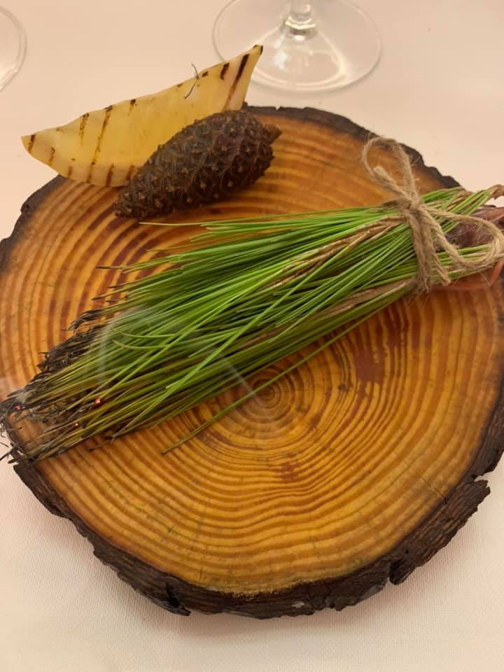Piazzetta Milu - Gambero affumicato al pino e limone