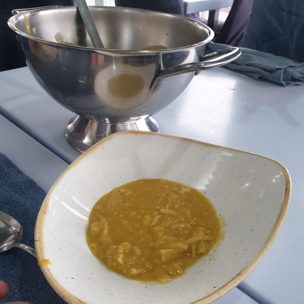 Romolo Al Porto, Anzio - Minestra di pasta con ceci e zuppa di pesce