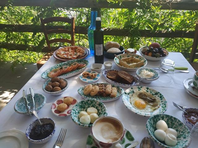 La colazione a Villa Rosa La casa di Lella