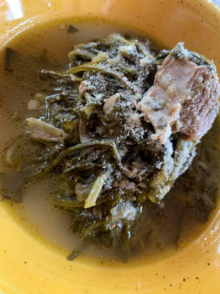 Caprettata - Minestra di cicoria selvatica e capra