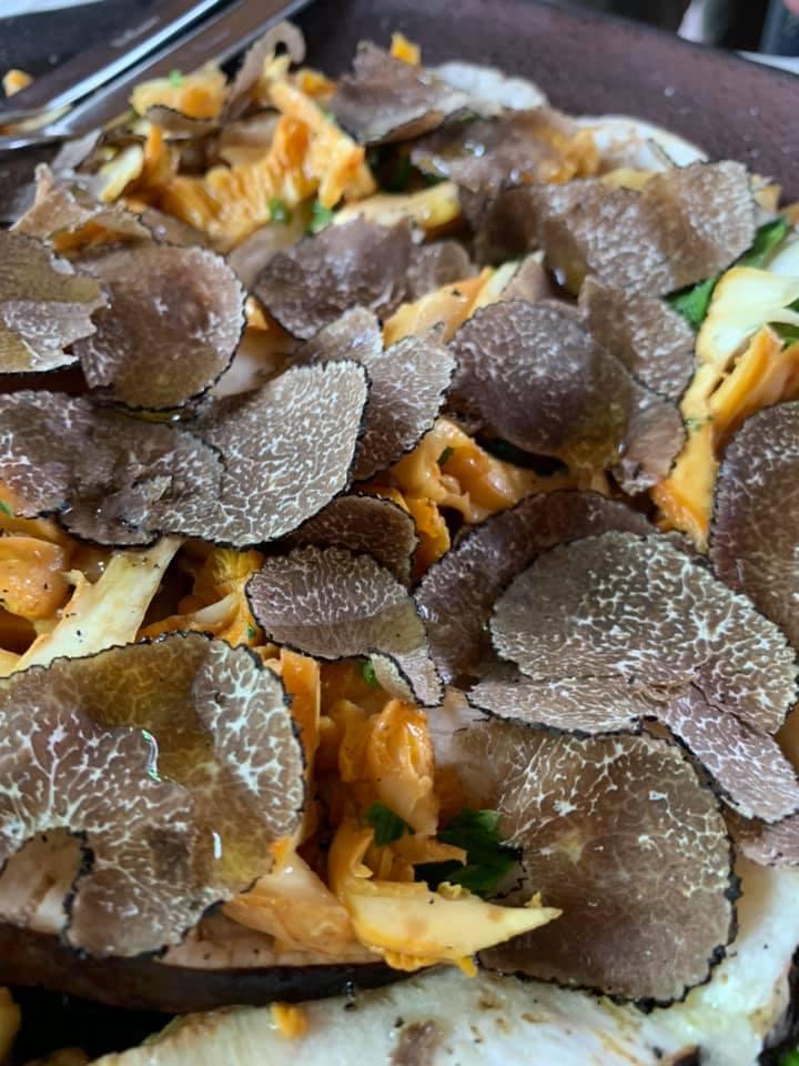 Caprettata - Carpaccio di funghi e tartufo nero del Sannio