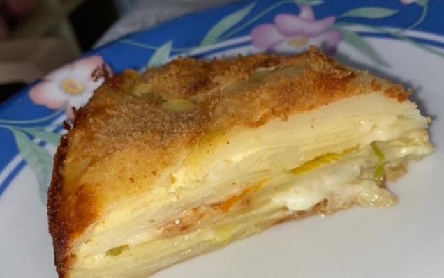Cheese cake di patate e fiori di zucca