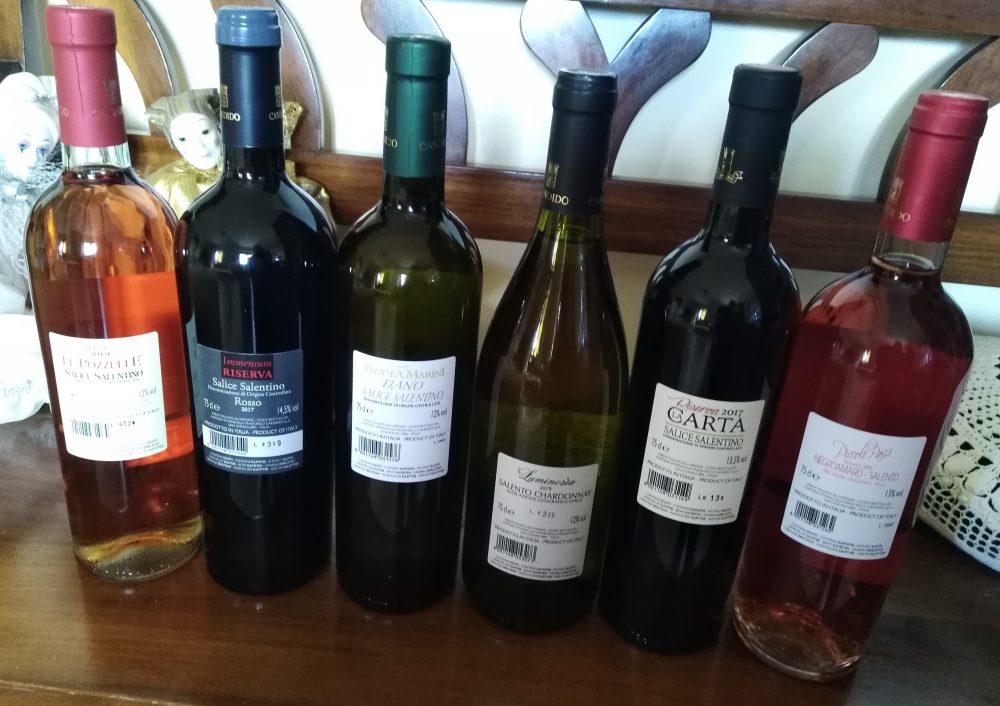 Controetichette vini Candido