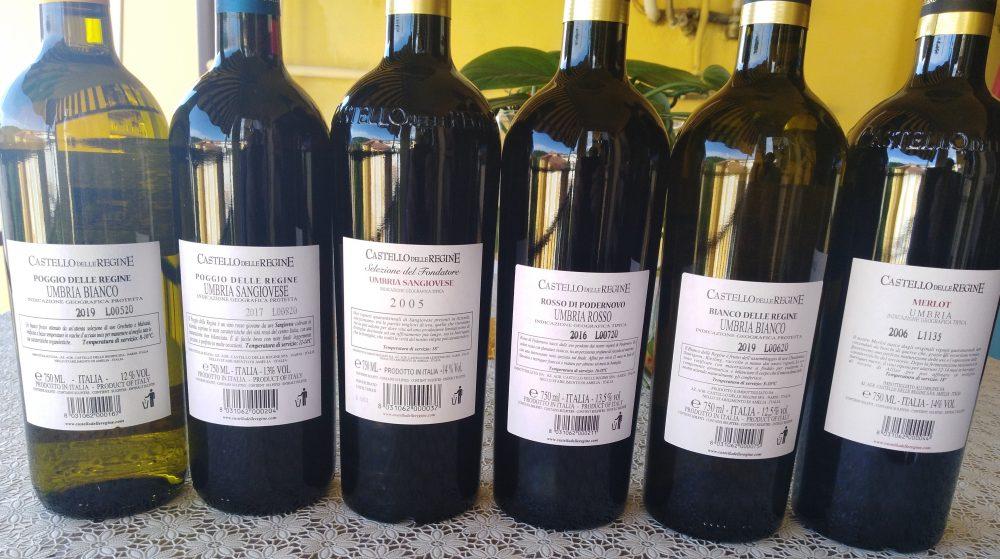 Controetichette vini Castello delle Regine
