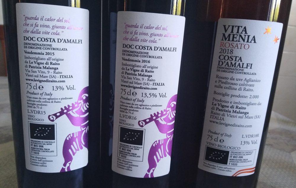 Controetichette vini Le Vigne di Raito