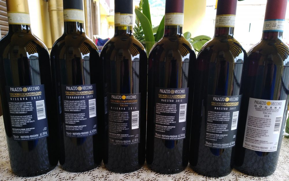 Controetichette vini Palazzo Vecchio