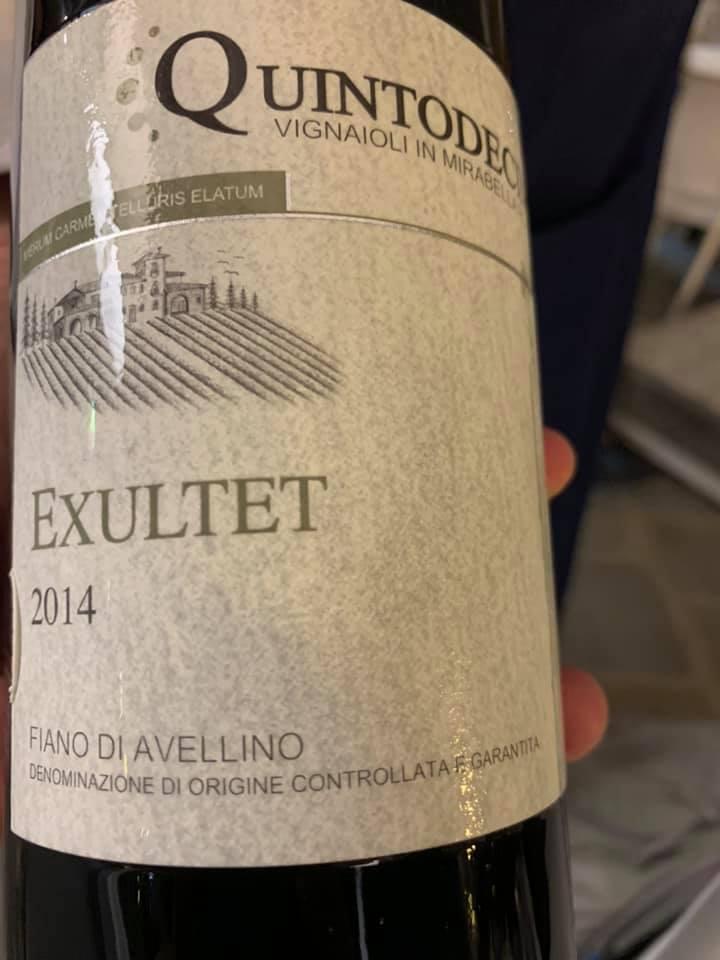 Exultet 2014 Fiano di Avellino Quintodecimo