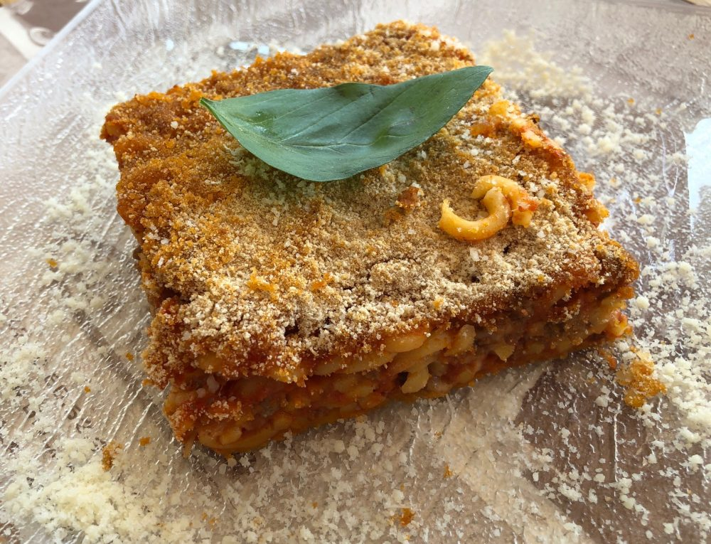 La Terrazza, anelletti al forno con ragu' alla siciliana