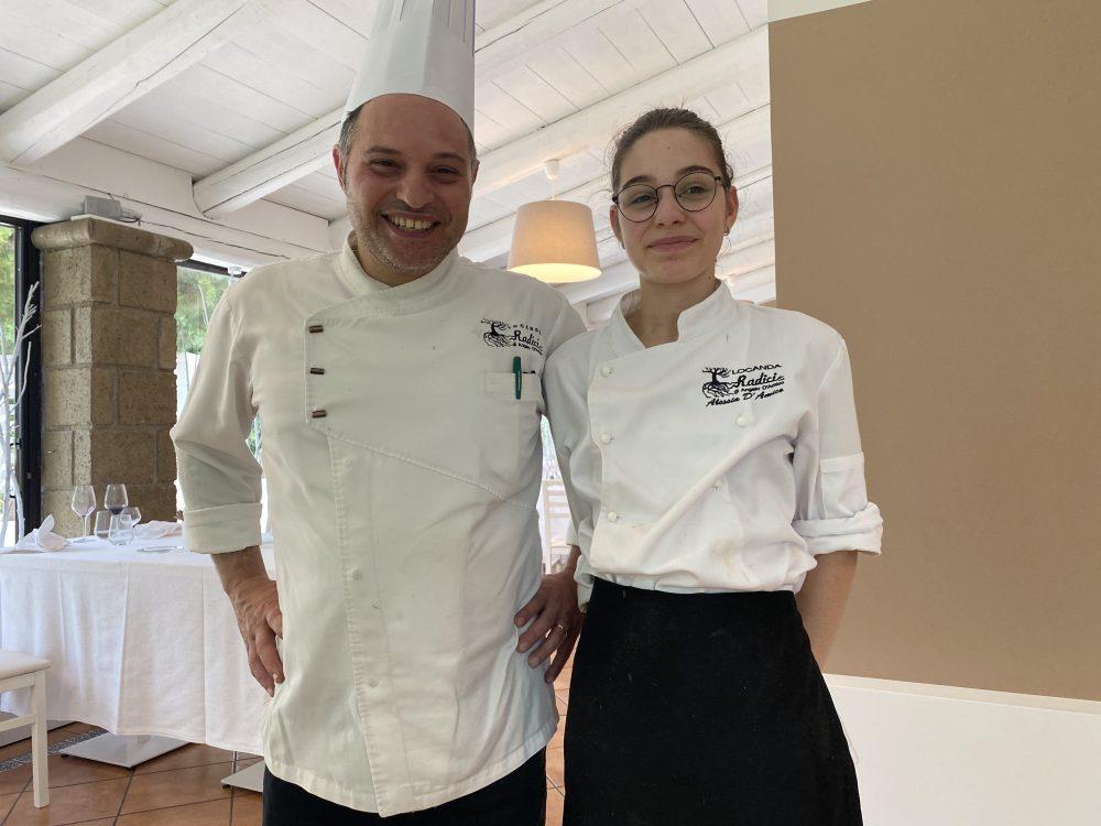 Locanda Radici - Chef Angelo D'Amico e sua figlia