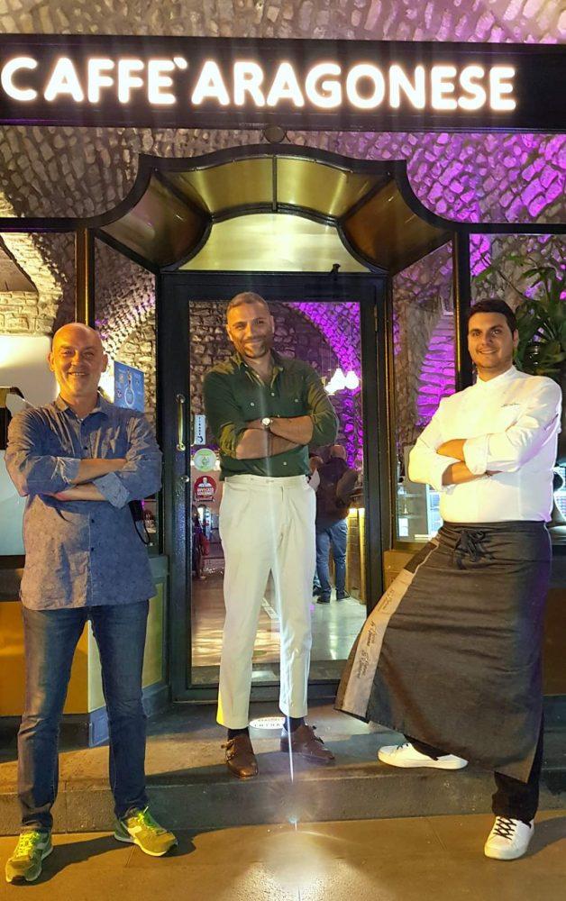 Marco Ferrara, Dimitri Guerriero e lo chef Stefano Parrella