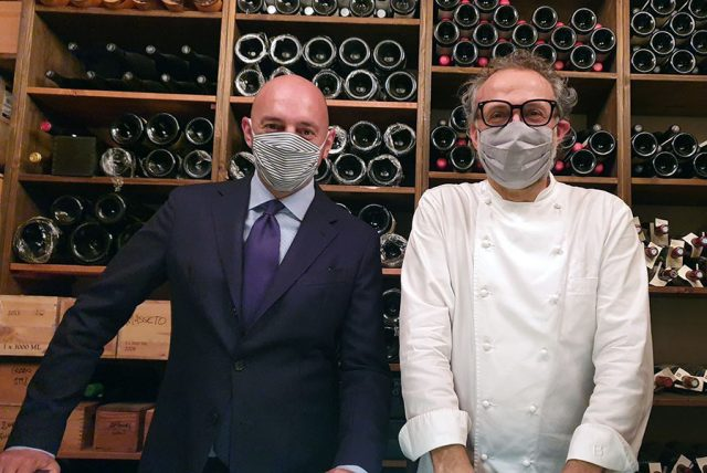 Massimo Bottura e Beppe Palmieri - Osteria Francescana