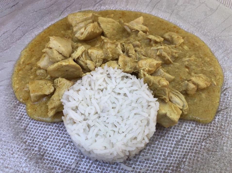 Osteria Robebuone, bocconcini di pollo al curry e riso basmati