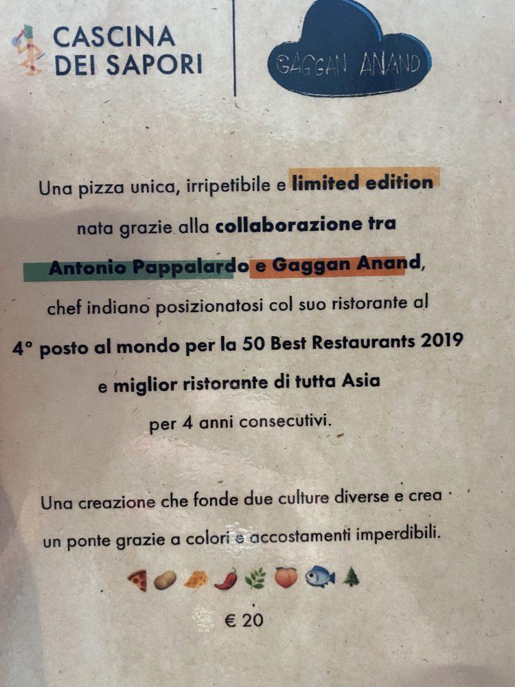 Pizza di Gaggan - annuncio