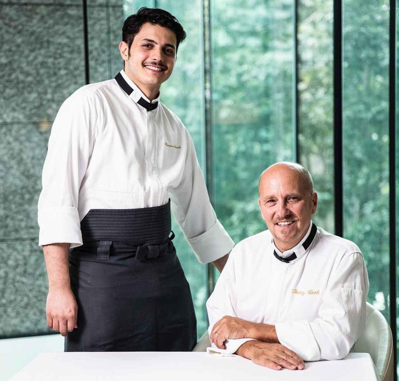 Carmine Amarante con Heinz Beck