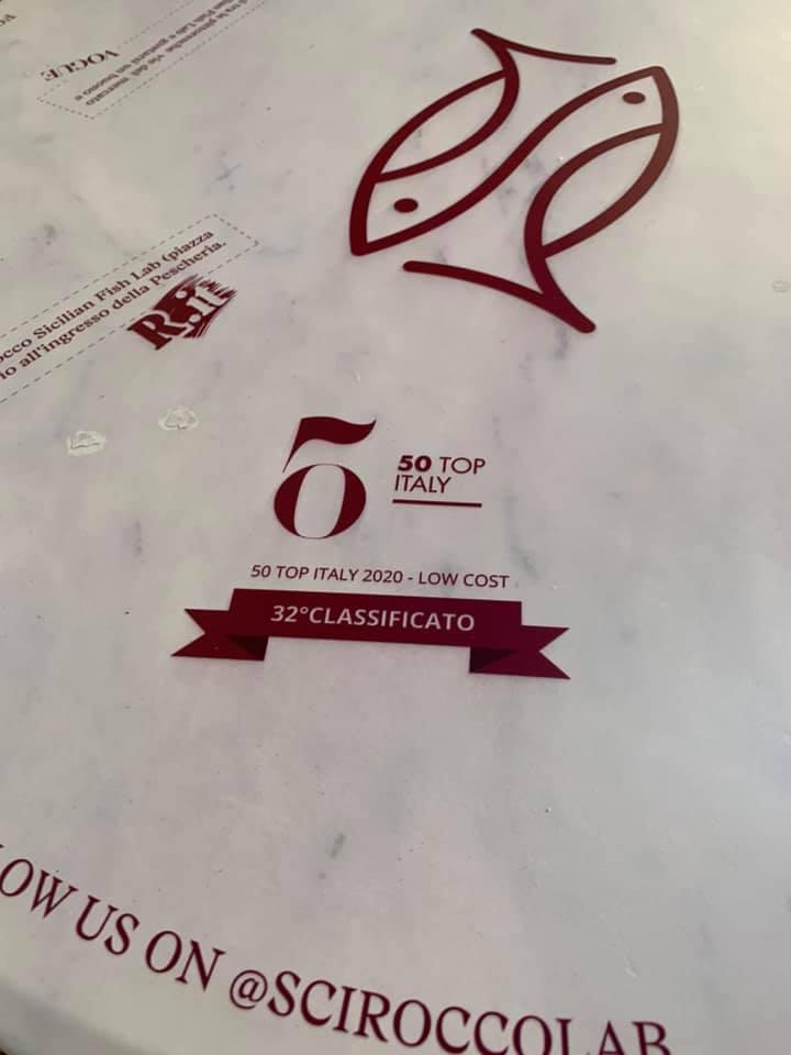 Scirocco Sicilian Fish Lab, il riconoscimento di 50 TOP ITALY