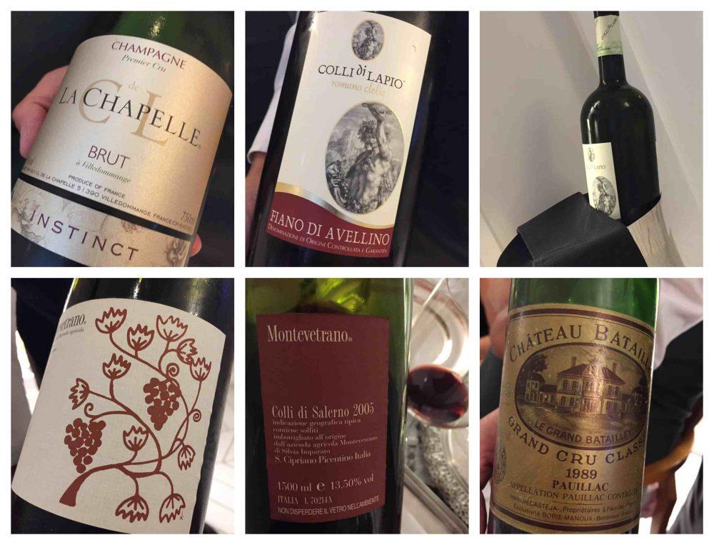 Don Alfonso 1890, i vini e champagne