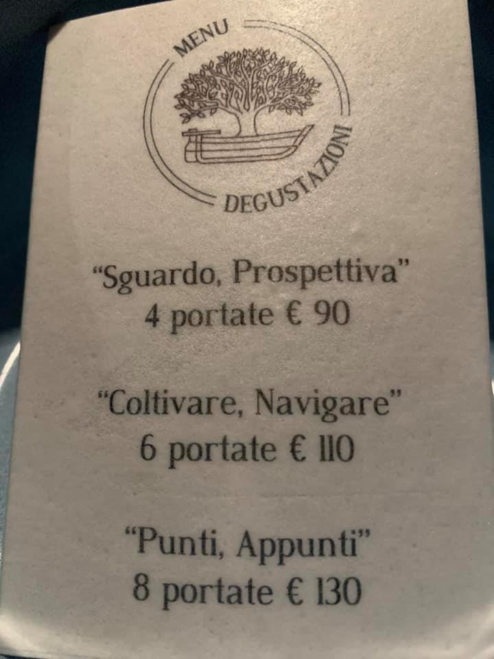 Accursio Ristorante - menu'