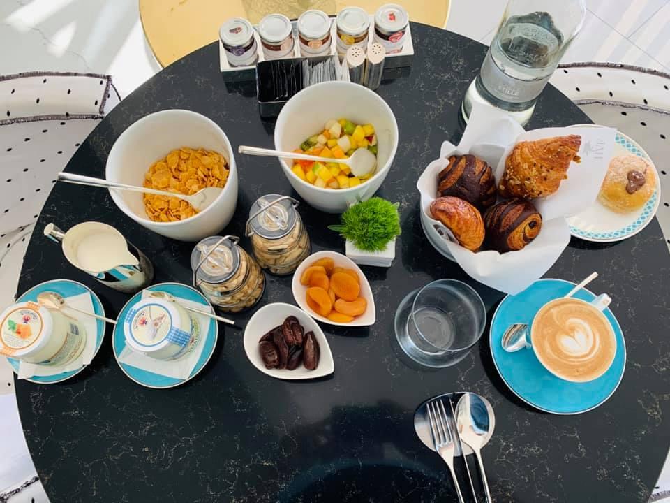 Parte della colazione all'Hotel Villa Franca Positano