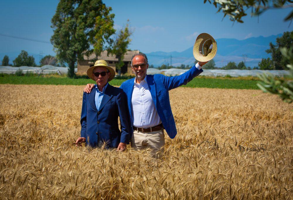 Carmine e Antimo Caputo nel campo di Frignano