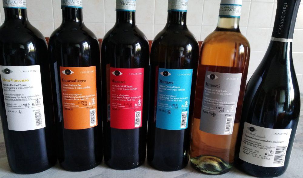 Controetichette vini Casa Setaro