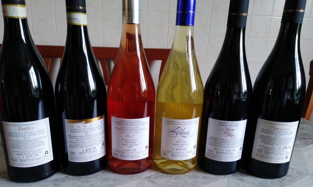 Contrpetichette vini di Paolo Calì