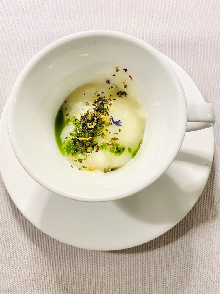 Don Lisandro Osteria Moderna - Cappuccino di seppie e patate di Letino
