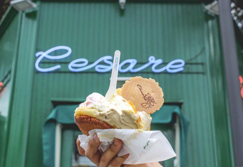 Gelateria Cesare- Brioche con gelato
