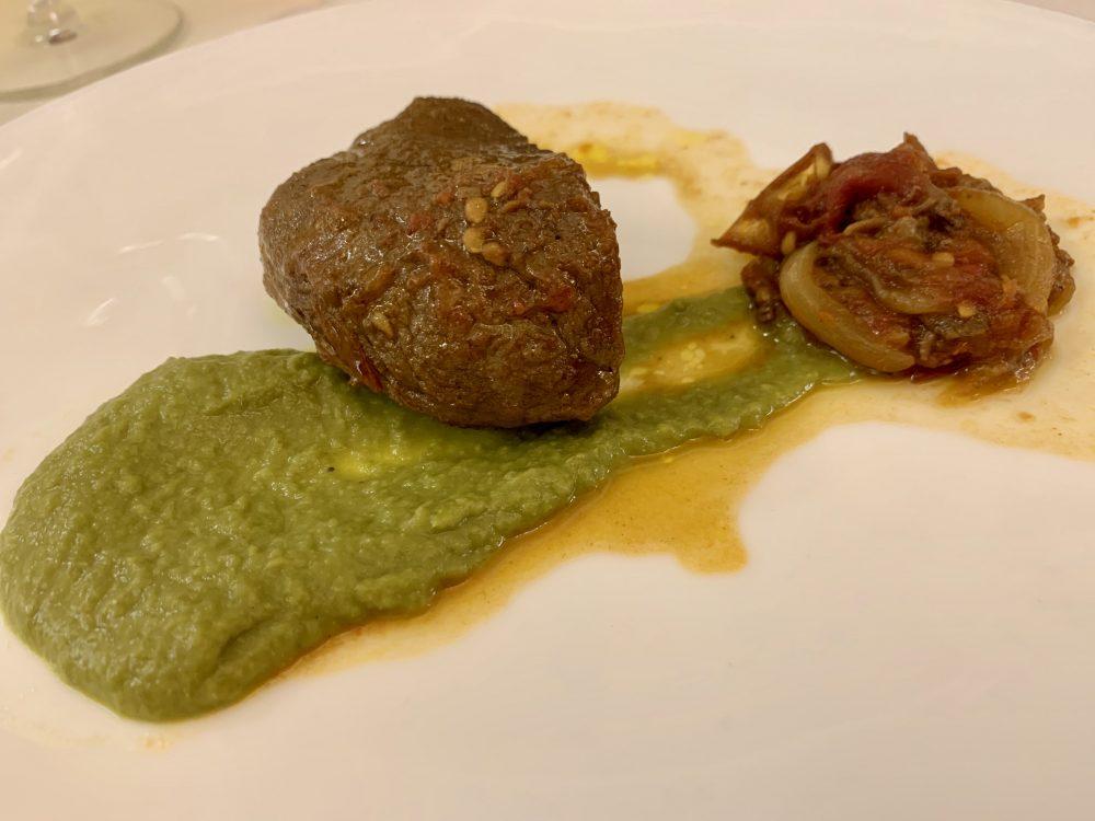 L'A Cena Dali'-arrosto di manzo in agrodolce-pure' verde