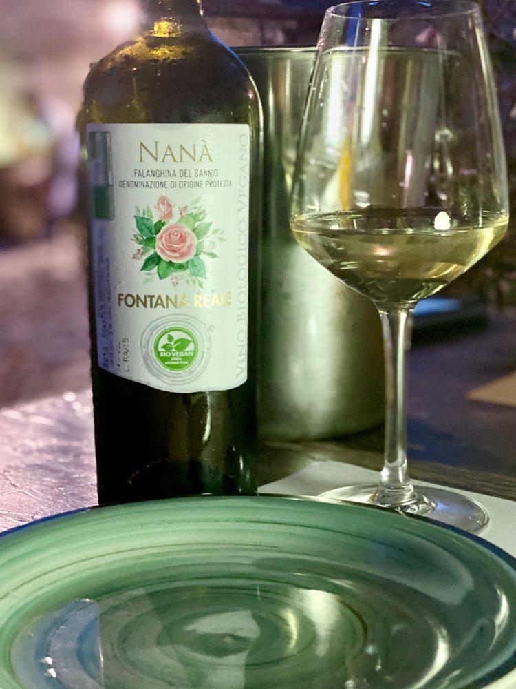 Pizzeria Forte Evo - vino biologico cantina Fontana Reale
