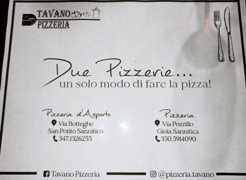 Pizzeria Tavano - Tovaglietta