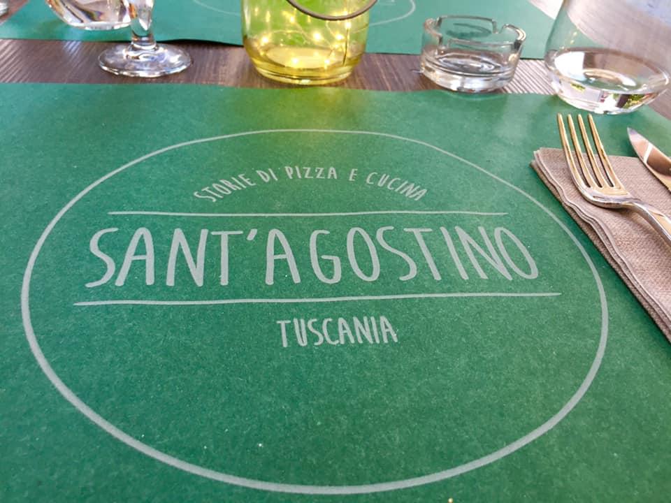 pizzeria Sant'Agostino, Tuscania, tovaglietta