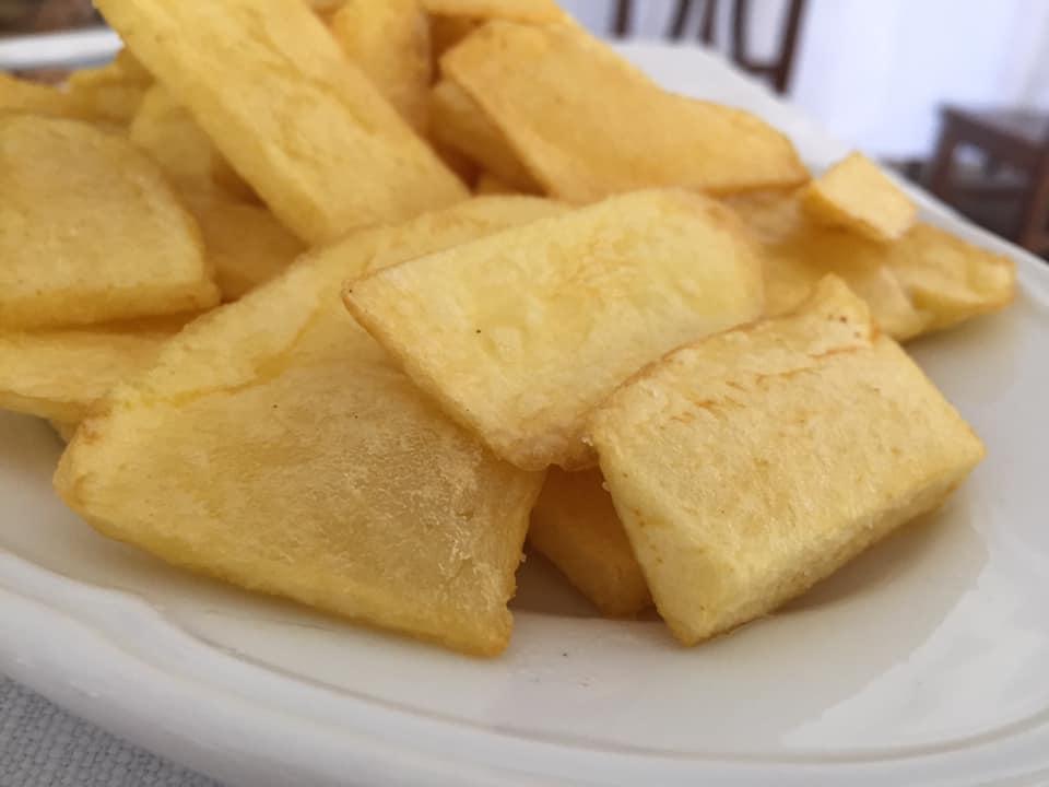 Villa Marchesa, le patate fritte tagliate a mano